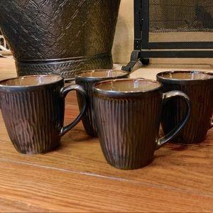 Set of 4 Cuisinart metallic stoneware mugs